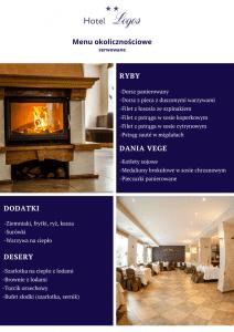 Imprezy okolicznościowe menu